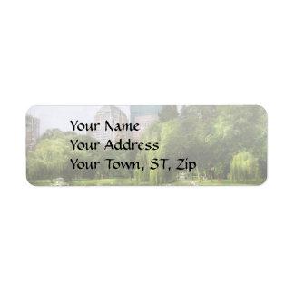 City - Boston Ma - Boston public garden Return Address Label