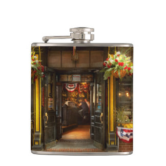 City - Boston MA - For the weary traveler Hip Flask