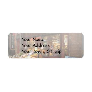 City - Boston Ma - Fresh meats and Fruit Return Address Label