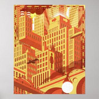 City Bridge Poster