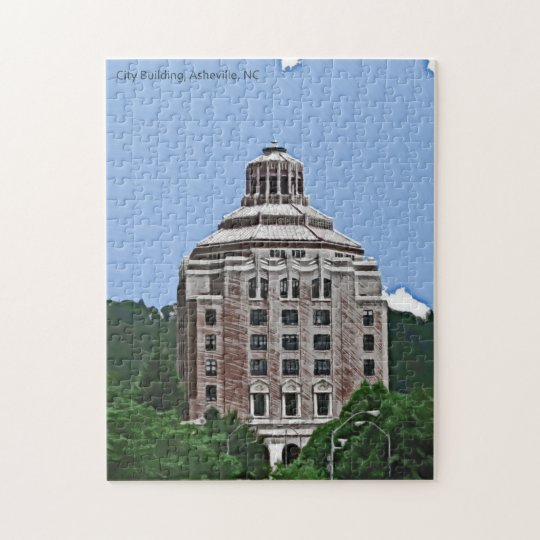 City Building, Asheville, NC Jigsaw Puzzle