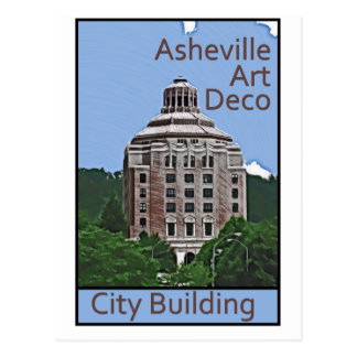 City Building, Asheville Postcard