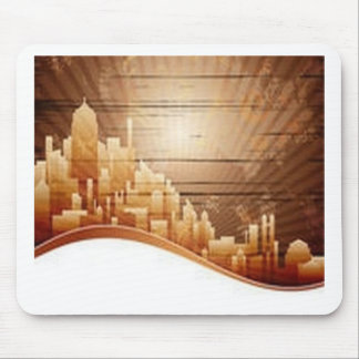 City buildings design mouse pad