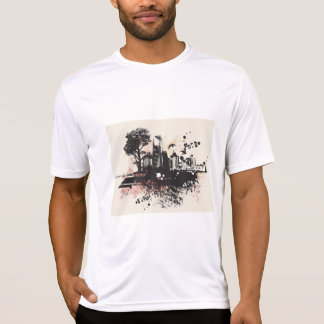 City Buildings Drawing Mens Active Tee