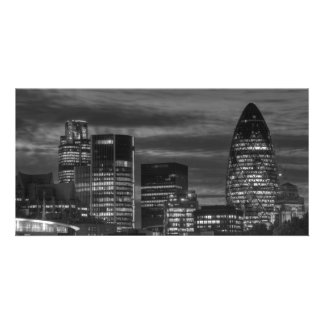 City Buildings in black and white Picture Card