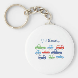 City Buster Basic Round Button Keychain