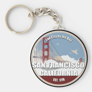 City by the bay, San Francisco California Basic Round Button Key Ring