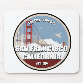City by the bay, San Francisco California Mouse Pad