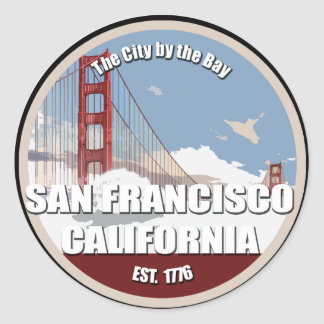 City by the bay, San Francisco California Round Sticker