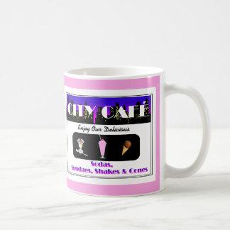 City Café Hot Pink Coffee Mug
