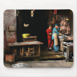 City - California - Fish Alley smells fowl 1886 Mouse Pad