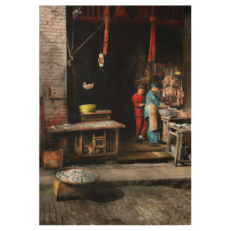 City - California - Fish Alley smells fowl 1886 Wood Poster