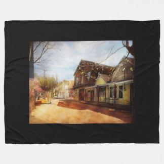 City - California - The town of Downieville 1933 Fleece Blanket