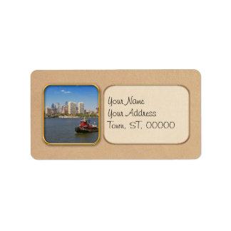 City - Camden, NJ - The city of Philadelphia Address Label