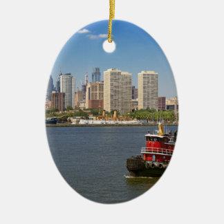 City - Camden, NJ - The city of Philadelphia Ceramic Ornament