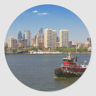City - Camden, NJ - The city of Philadelphia Classic Round Sticker