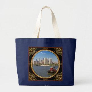 City - Camden, NJ - The city of Philadelphia Large Tote Bag