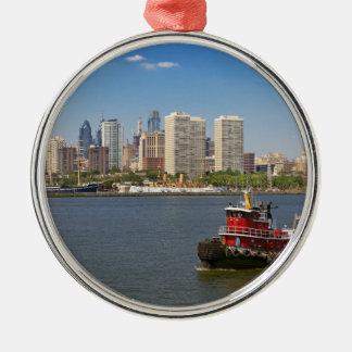 City - Camden, NJ - The city of Philadelphia Metal Ornament