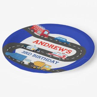 City Cars birthday plates