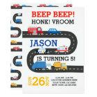 City Cars Invitation, 100% customisable Card