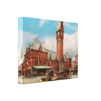 City - Chicago Ill - Dearborn Station 1910 Canvas Print