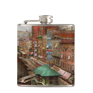 City - Chicago - Piano Row 1907 Hip Flask