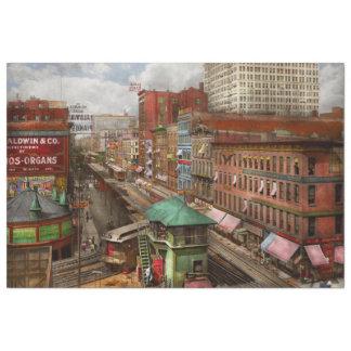 City - Chicago - Piano Row 1907 Tissue Paper