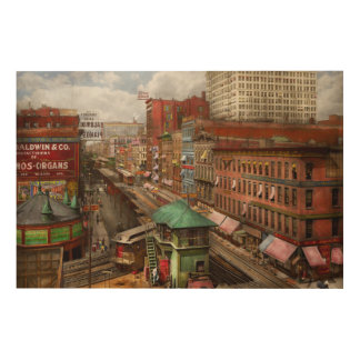 City - Chicago - Piano Row 1907 Wood Wall Art