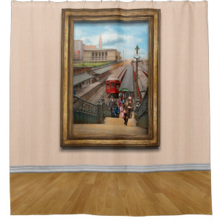 City - Chicago - The Van Buren Street Station 1907 Shower Curtain