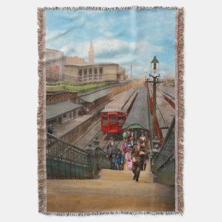 City - Chicago - The Van Buren Street Station 1907 Throw Blanket