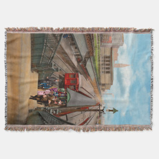 City - Chicago - The Van Buren Street Station 1907 Throw Blanket
