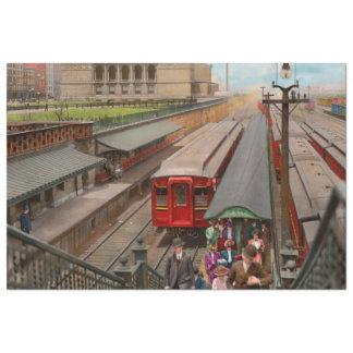 City - Chicago - The Van Buren Street Station 1907 Tissue Paper