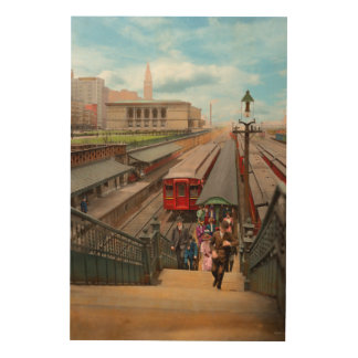 City - Chicago - The Van Buren Street Station 1907 Wood Wall Art