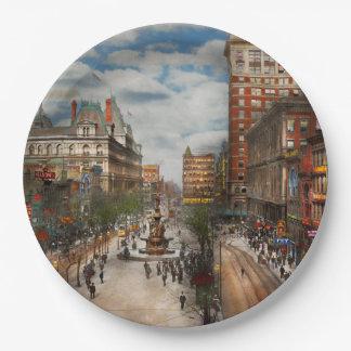 City Cincinnati OH - Tyler Davidson Fountain 1907 9 Inch Paper Plate