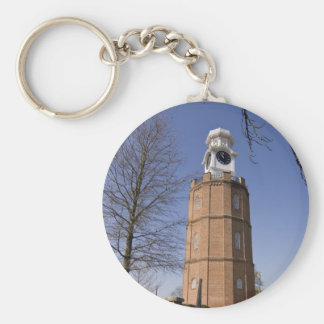 City Clock Tower Basic Round Button Key Ring