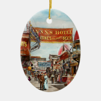 City - Coney Island NY - Bowery Beer 1903 Ceramic Ornament