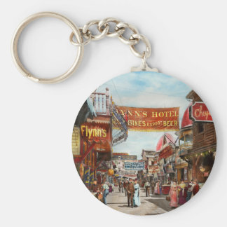 City - Coney Island NY - Bowery Beer 1903 Key Ring