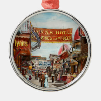 City - Coney Island NY - Bowery Beer 1903 Metal Ornament
