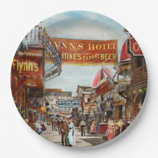 City - Coney Island NY - Bowery Beer 1903 Paper Plate