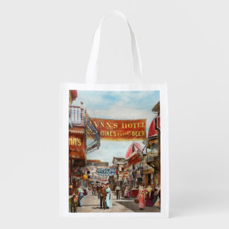 City - Coney Island NY - Bowery Beer 1903 Reusable Grocery Bag