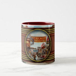 City - Coney Island NY - Bowery Beer 1903 Two-Tone Coffee Mug