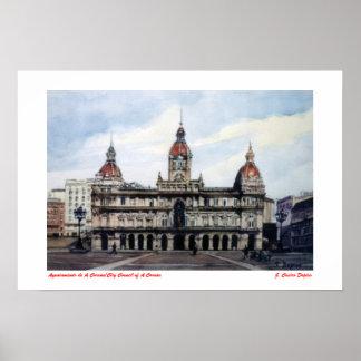 City council of A Corunna/City Council of To Poster