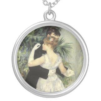 City Dance by Pierre Renoir, Vintage Fine Art Silver Plated Necklace