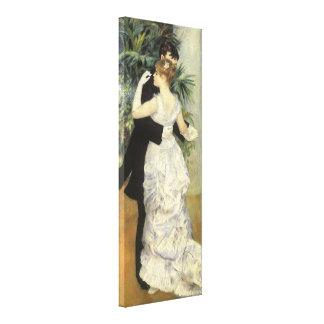 City Dance by Renoir, Vintage Impressionism Art Stretched Canvas Print
