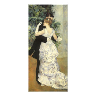 City Dance by Renoir Vintage Impressionism Art Personalized Rack Card