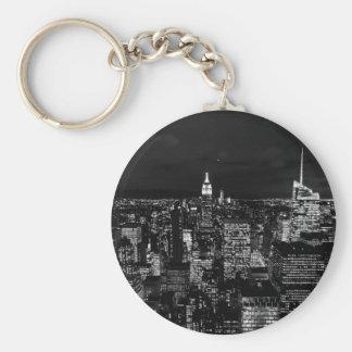 CIty Design Basic Round Button Key Ring