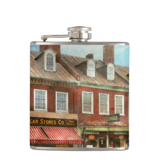City - Easton MD - A slice of American life 1936 Hip Flask