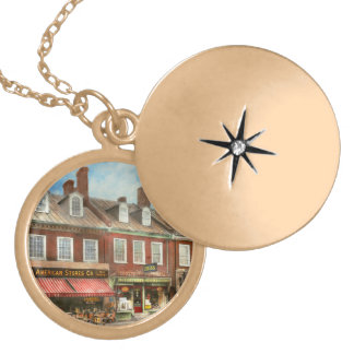 City - Easton MD - A slice of American life 1936 Locket Necklace