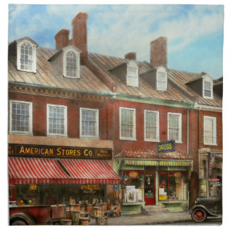 City - Easton MD - A slice of American life 1936 Napkin