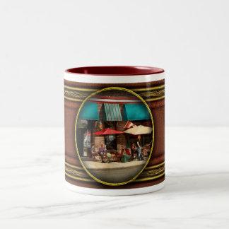 City - Edison NJ - Pino's basket shop Two-Tone Coffee Mug